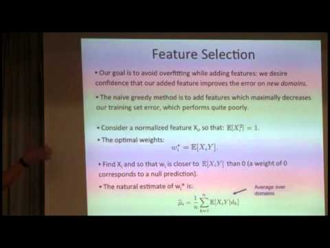 NIPS 2011 Domain Adaptation Workshop: Overfitting and Small Sample Statistics