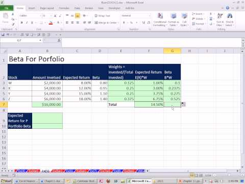 Excel Finance Class 109: Beta For Portfolio