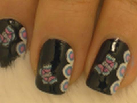 Fimo Butterfly Nail Art / Arte para las uñas con diseño de mariposa