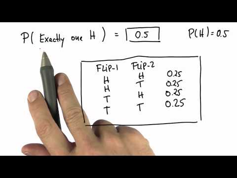 One Head 2 - Intro to Statistics - Probability - Udacity