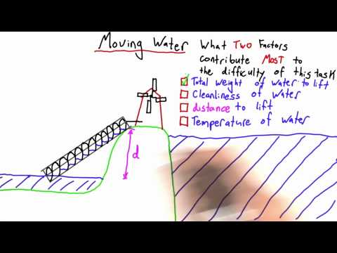 Moving Water Solution - Intro to Physics - Work and Energy - Udacity