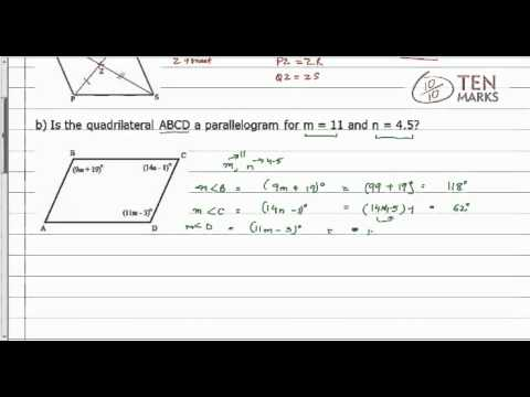Conditions for Parallelograms - 2