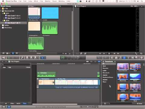 Apple Final Cut Pro X Tutorial -  How to Add Transitions