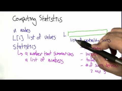 Computing Statistics - Algorithms - Statistics - Udacity