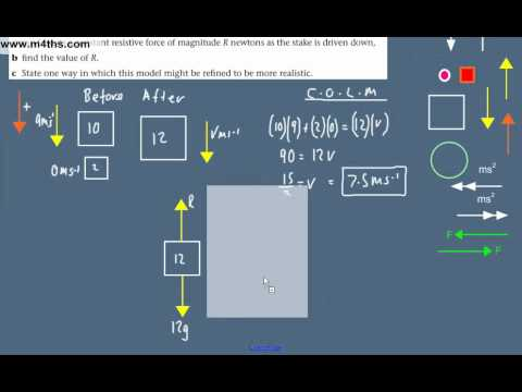 (23) Dynamics Overview -  M1 Mechanics Revision - Conservation of linear momentum