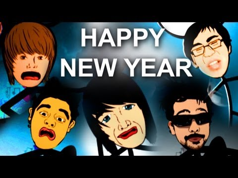 Happy New Year 2012 Animation-Justin Bieber,Freddie,Ray,Shane Dawson&Penna