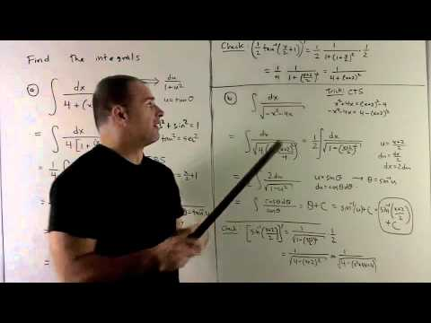 Integrals with Inverse Trig Functions 1
