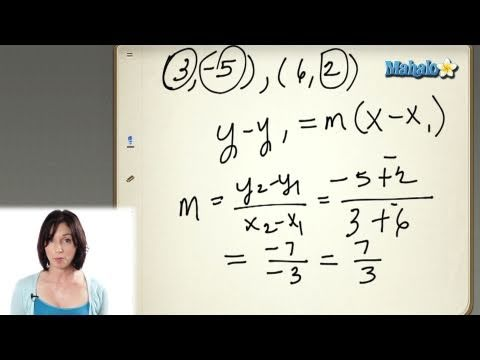 Finding the Equation of a Line in Point-Slope Form