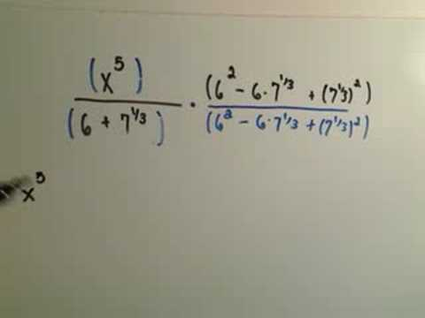 Rationalize the Denominator - Harder Example
