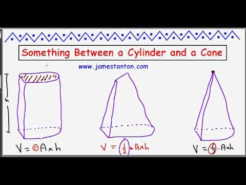 Halfway between a Cylinder and a Cone! (Tanton: Mathematics)