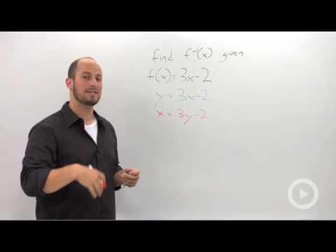 Algebra 2 - Finding an Inverse Algebraically