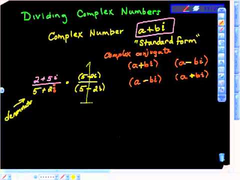 Dividing Complex Numbers Imaginary Number i College Algebra