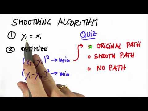 Smoothing Algorithm Solution - CS373 Unit 5 - Udacity