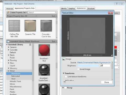 Revit MEP 2012 Tutorial - Custom Materials