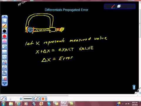 AP Calculus Differentials Propogated Error Pt I