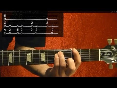 EASY AC/DC! Dirty Deeds Done Dirt Cheap ( Guitar Lesson )
