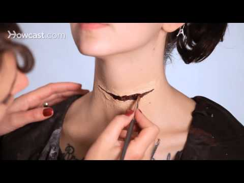 How to Do a Fake Neck Wound, Part 5 | Special Effects Makeup Tutorial