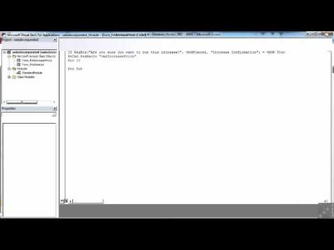 VBA for Access Tutorial | Where is VBA | InfiniteSkills