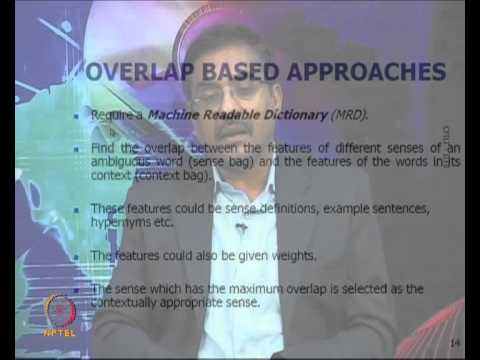 Mod-01 Lec-32 Word Sense Disambiguation