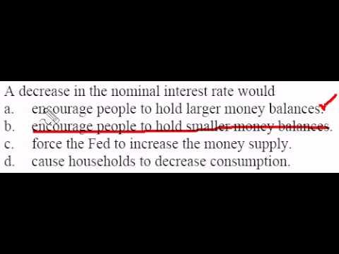 Decrease in Nominal Interest Rates