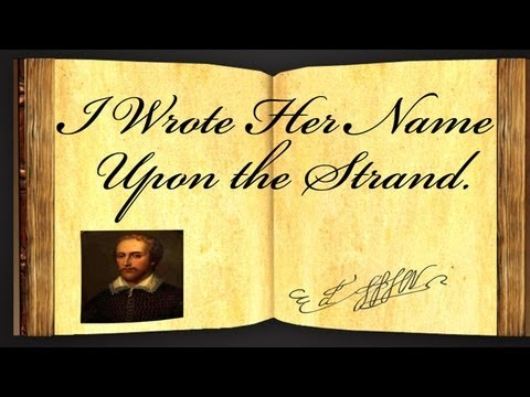 I Wrote Her Name Upon The Strand by Edmund Spenser - Poetry Reading