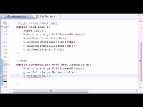 Java Game Development - 31 -  User Mouse Input