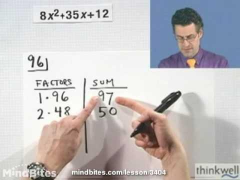 College Algebra: Factoring Trinomials