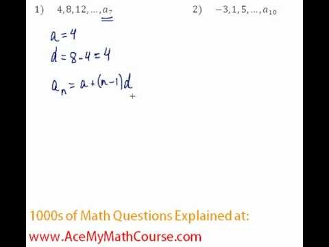 Arithmetic Sequences - Finding the Given Term Question #1