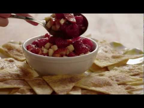 How to Make Fruit Salsa and Cinnamon Chips