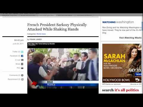 French President Attacked