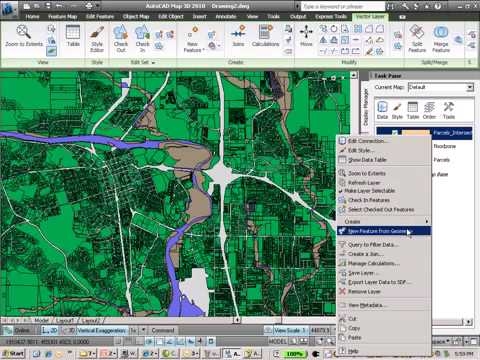 Flood Analysis with AutoCAD Map 3D software