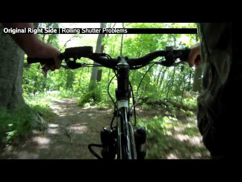 Undistorting, Rolling Shutter Fixing, GoPro 3D Hero on E+ electric mountain bike