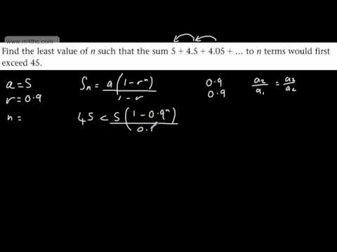 (6) C2 Exam Style Geometric Sequence and Series Questions (6) Sum of terms