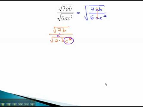 Rationalize Denominators - Monomial Square Roots