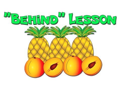 """Behind"" - Teach Prepositions for ESL English Lessons"