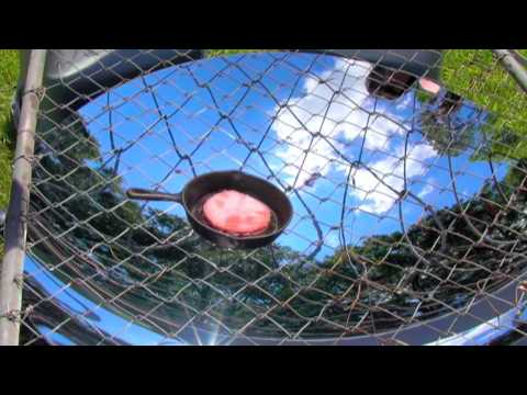 "SOLAR COOKING 46"" Parabolic Mirror Solar Stove Solar Oven GreenPowerScience"