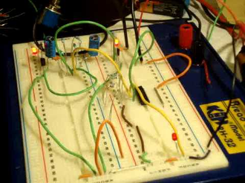 Clock triggered D Flip Flop using astable multivibrator