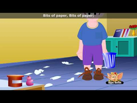 Bits of Paper - Nursery Rhyme with Lyrics (HD)