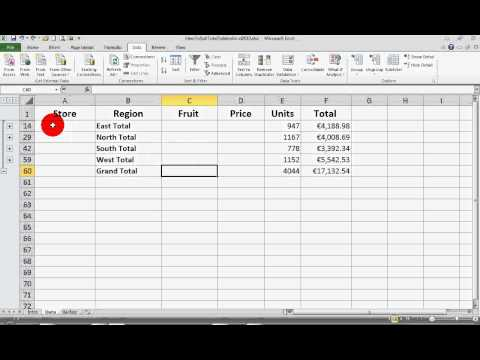How To... Use Subtotals for Data Analysis in Excel 2010
