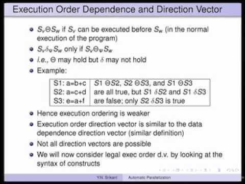 Mod-14 Lec-25 Automatic Parallelization-Part 2