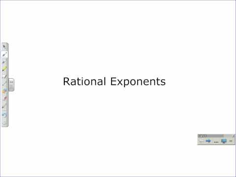 Rational Exponents and Radical Exponents Part 1