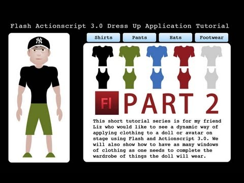 2. Flash Dress Up Game Tutorial Actionscript 3.0 CS4 CS5 CS5.5 Doll Character Model