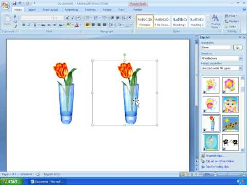 Word 2007 Tutorial 11 - Working With ClipArt