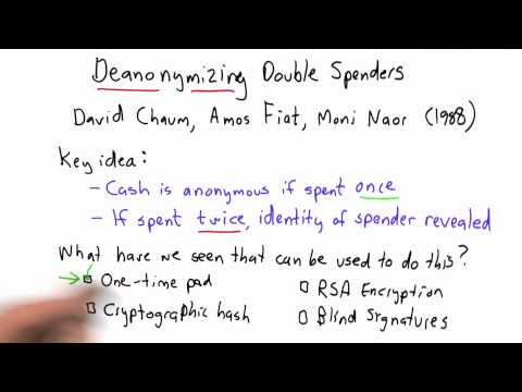 Deanonymizing Double Spenders Solution - CS387 Unit 6 - Udacity