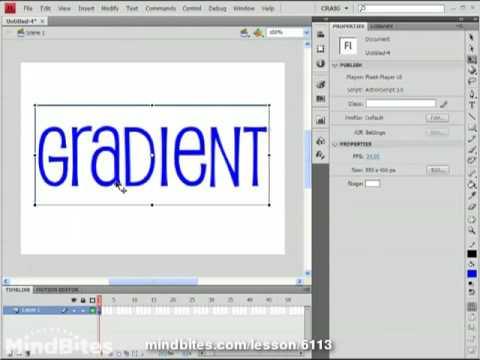 Flash CS4 Tips Vol 1, 8: Text Gradient Fills