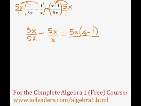 (Algebra 1) Rational Expressions - Solving an Equation #2