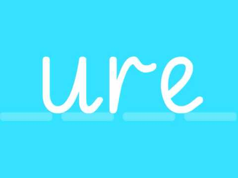 ure - Phonics - cure, pure, sure