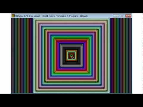 QBasic Tutorial 29 - Drawing Part 2 - QB64 - Draw With Loops