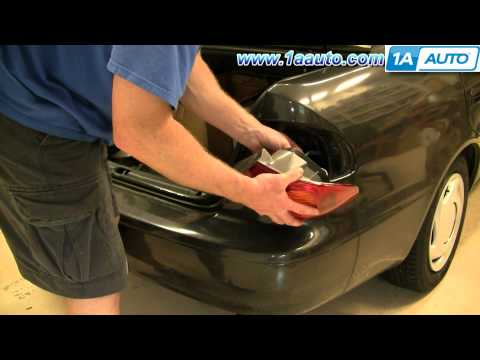 How To Install Replace Tail Light and Bulb Toyota Corolla 98-02 1AAuto.com