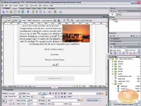 Embed Sound & Video into Your Website! Dreamweaver Tutorial
